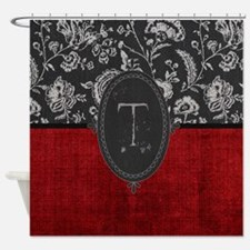 Gothic Monogram T Shower Curtain