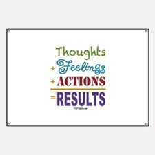 Thought + Feeling + Action = Results Banner