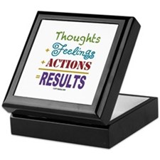 Thought + Feeling + Action = Results Keepsake Box