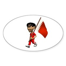 Bahrain Boy Oval Decal