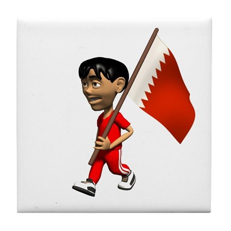 Bahrain Boy Tile Coaster
