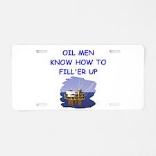 oil men Aluminum License Plate