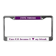Cure CF because I heart my friend License Frame