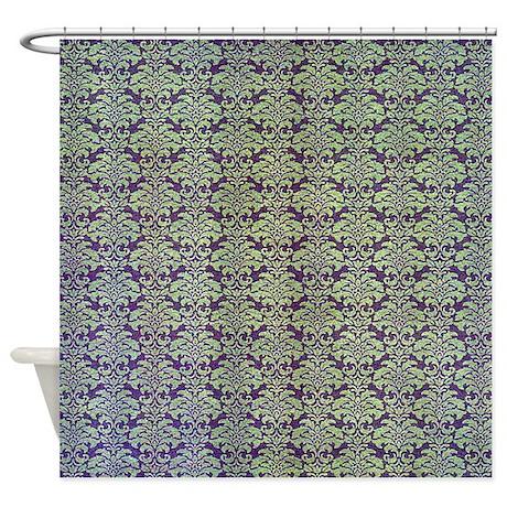 vintage purple floral shower curtain by themedshed. Black Bedroom Furniture Sets. Home Design Ideas