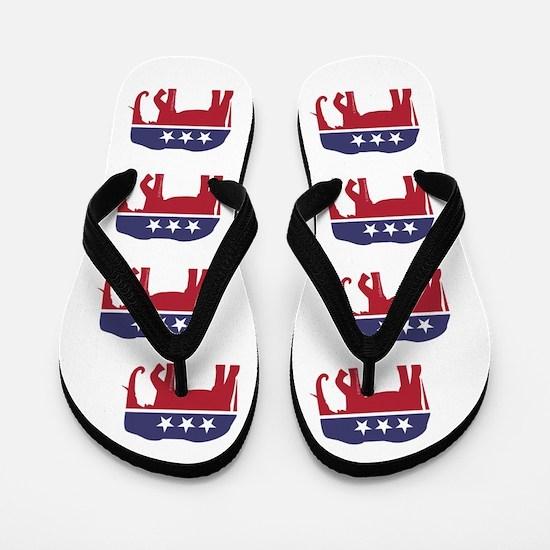 Republican Elephant (ff) Flip Flops