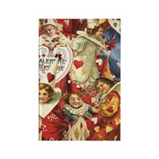 Valentine Jesters Rectangle Magnet