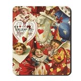 Valentines day victorian Mouse Pads