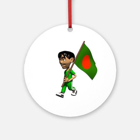 Bangladesh Boy Ornament (Round)