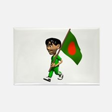 Bangladesh Boy Rectangle Magnet