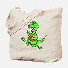Dinosaur Running Tote Bag