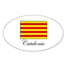 Catalonia - Flag Oval Decal