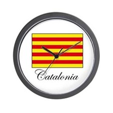 Catalonia - Flag Wall Clock