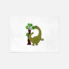 Dinosaur Eating Tree 5'x7'Area Rug