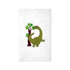 Dinosaur Eating Tree Area Rug