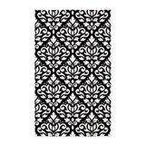 Black and white damask 3x5 Rugs