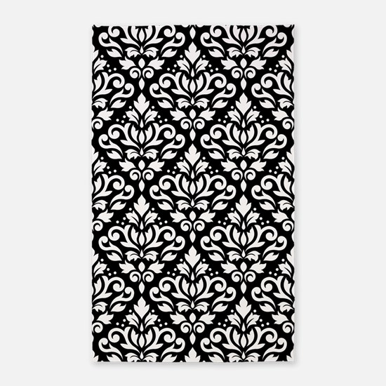 Scroll Damask Wb Ptn Area Rug