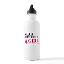 Hit Like A Girl Sports Water Bottle
