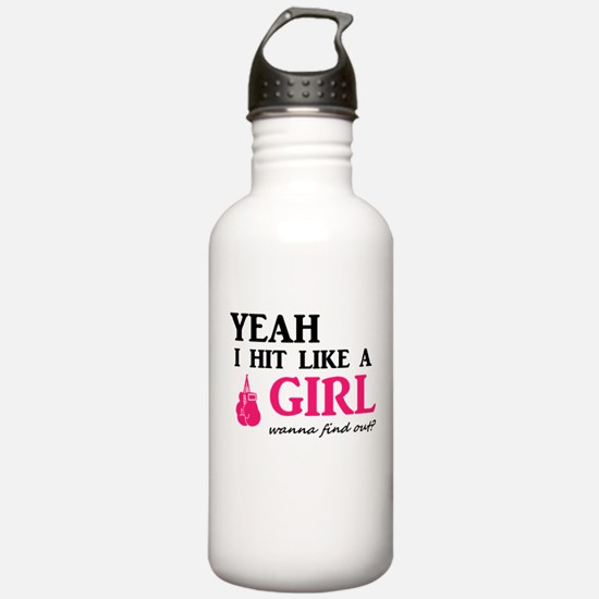 Hit Like A Girl Sports Water Bottle