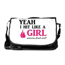 Hit Like A Girl Messenger Bag