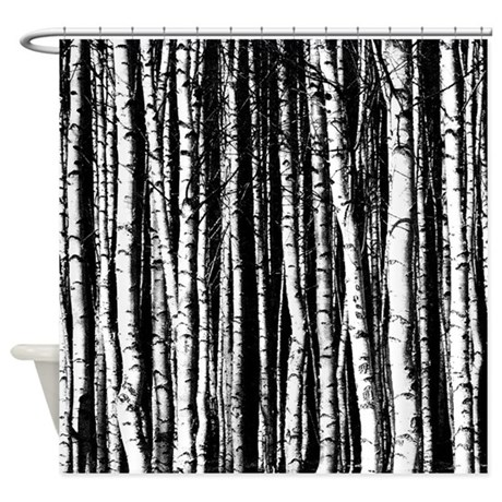 Black And White Shower Curtain Trees. Pine Tree In Black And White Shower  Curtain. Love Birds Shower Curtain. Black And White Birch Trees Shower  Curtain.