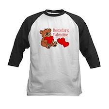 Bestefar's Valentine Cartoon Bear Baseball Jersey