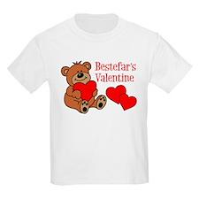 Bestefar's Valentine Cartoon Bear T-Shirt