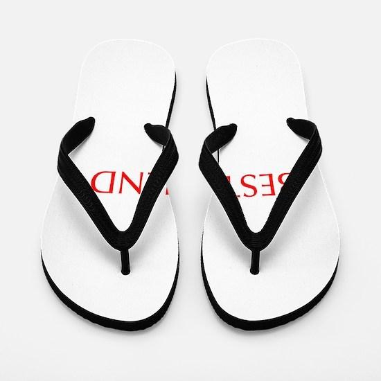 Best friend-Opt red Flip Flops