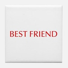 Best friend-Opt red Tile Coaster
