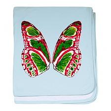 Malachite butterfly baby blanket