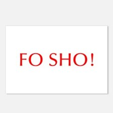 Fo sho-Opt red Postcards (Package of 8)
