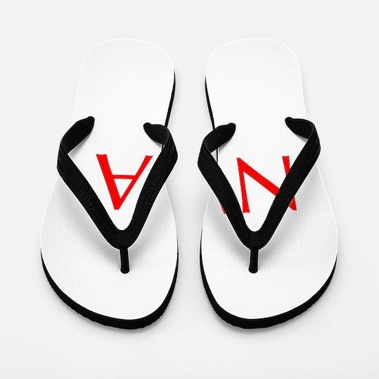 NWA-Opt red Flip Flops