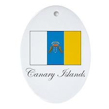Canary Islands - Flag Oval Ornament