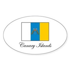 Canary Islands - Flag Oval Decal