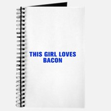 This girl loves bacon-Akz blue Journal