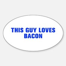 This guy loves bacon-Akz blue Decal