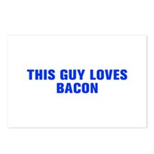 This guy loves bacon-Akz blue Postcards (Package o