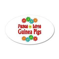 Peace Love Guinea Pigs Wall Decal
