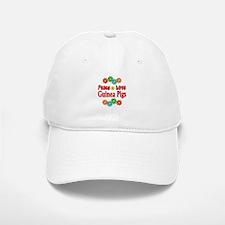 Peace Love Guinea Pigs Baseball Baseball Cap