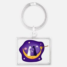 Two Cats Landscape Keychain
