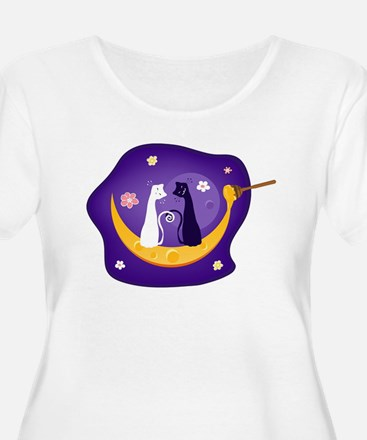 Two Cats Plus Size T-Shirt