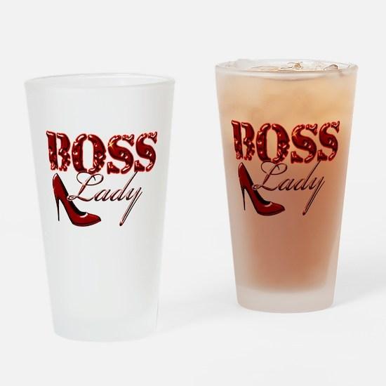 Boss Lady Bling Drinking Glass