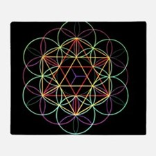 Cute Flower of life Throw Blanket