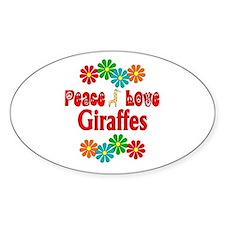 Peace Love Giraffes Decal