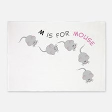 Mouse 5'x7'Area Rug