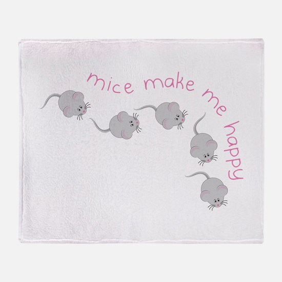 Make Me Happy Throw Blanket
