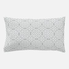 Glacier Gray & White Lace 2 Pillow Case