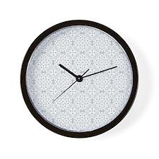 Glacier Gray & White Lace 2 Wall Clock