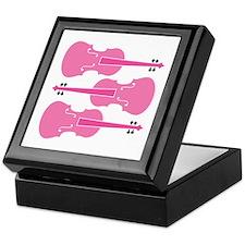 Viola Player Pink Music Keepsake Box