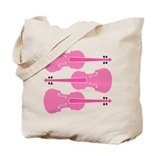 Viola Player Pink Music Tote Bag