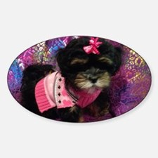 Cute Puppy Sticker (Oval)